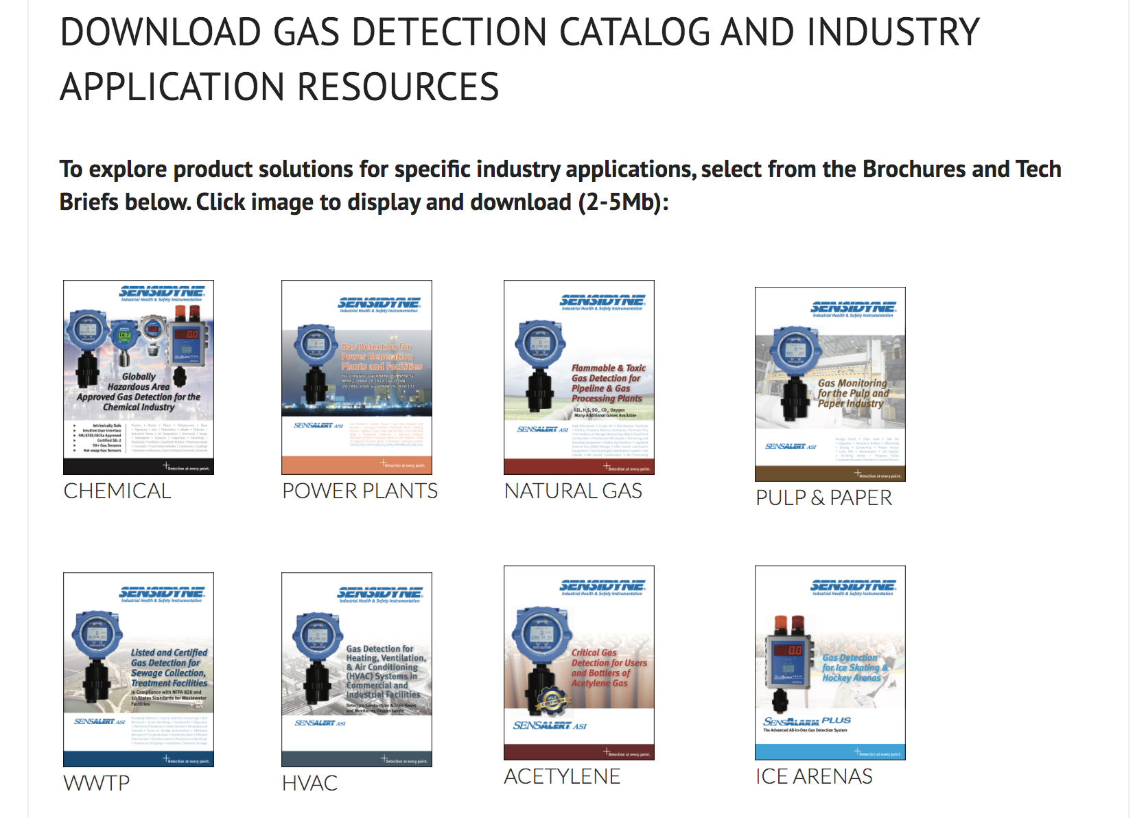 Fixed Gas Detection for Specific Industry Applications