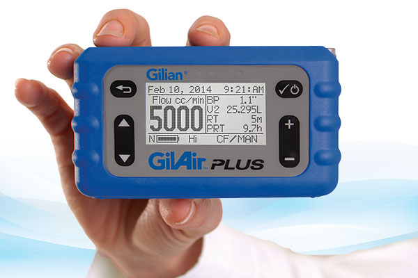 GilAir Plus Personal Air Sampling Pump (1 - 5,000 cc/min)